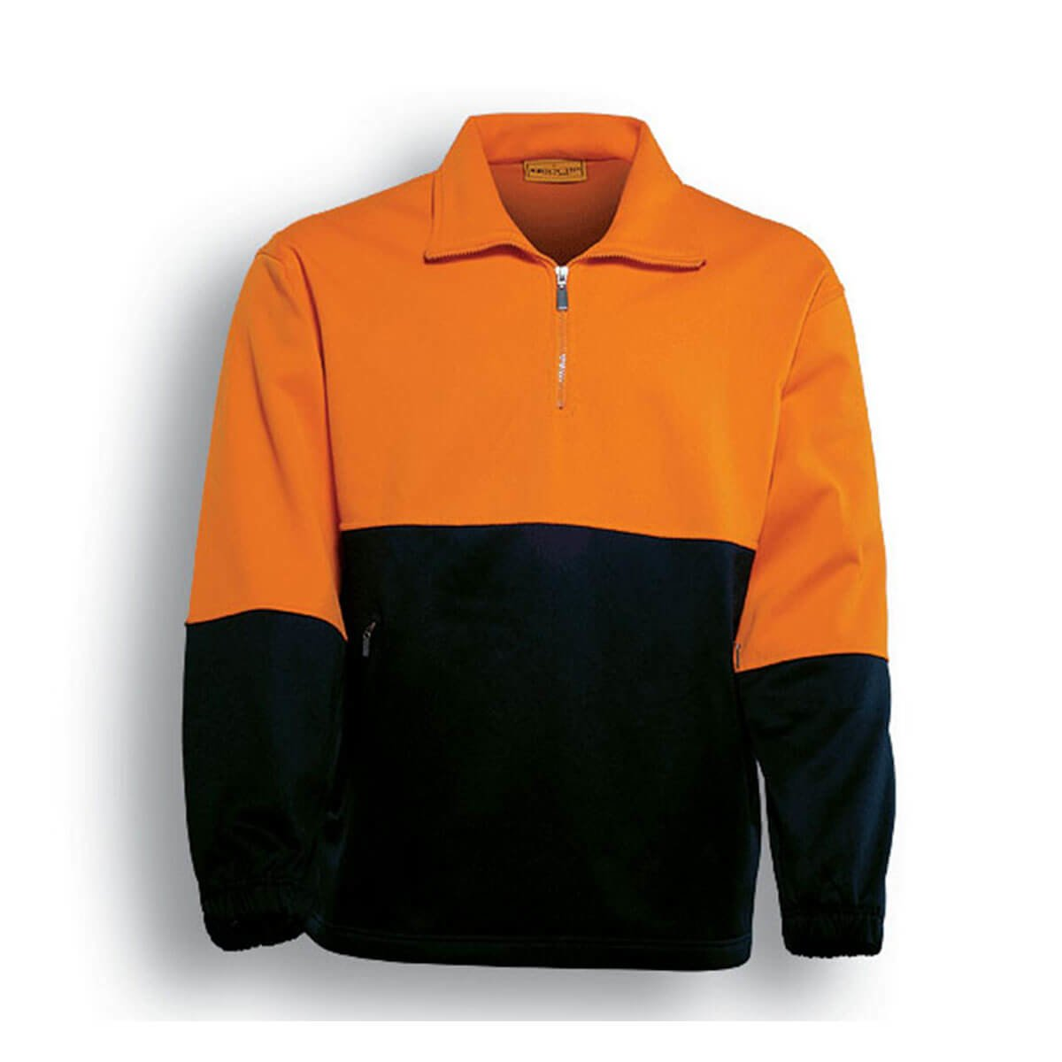 HI-VIS 1/2 ZIP FLEECE-Orange / Black
