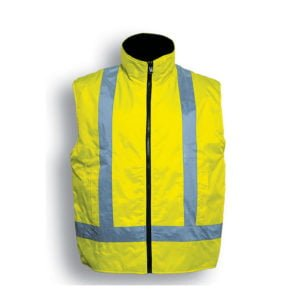 HI-VIS REVERSIBLE VEST WITH REFLECTIVE TAPE