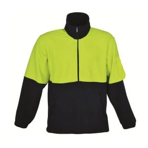 HALF ZIP HI VIS POLAR FLEECE
