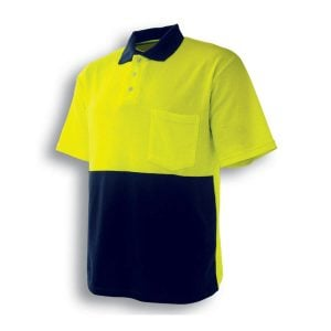 HI-VIS POLY/COTTON POLO -SHORT SLEEVE