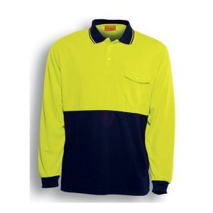 HI-VIS SAFETY POLO - LONG SLEEVE
