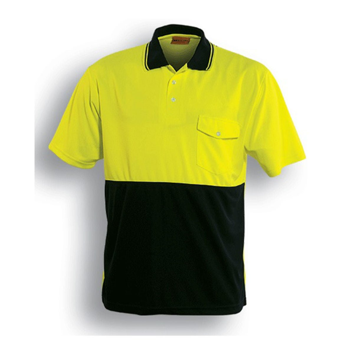 HI-VIS SAFETY POLO – SHORT SLEEVE-Lime / Black