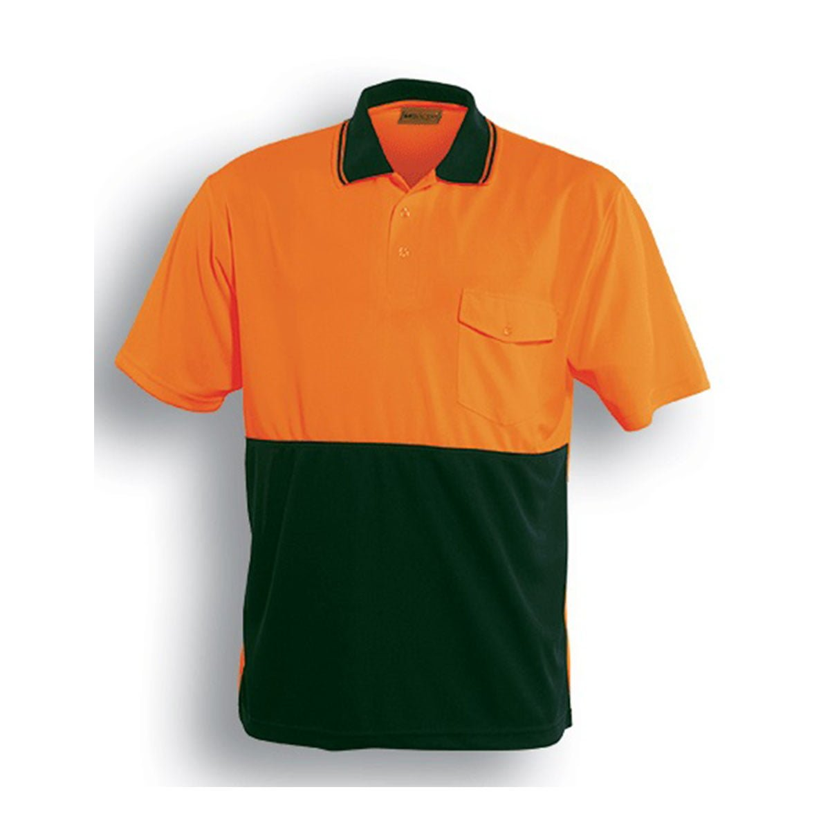 HI-VIS SAFETY POLO – SHORT SLEEVE-Orange / Bottle