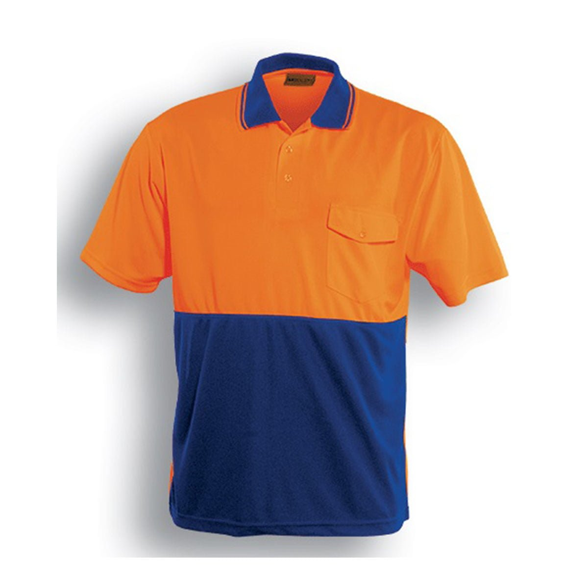 HI-VIS SAFETY POLO – SHORT SLEEVE-Orange / Royal