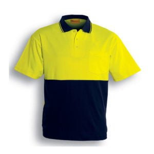 HI-VIS POLYFACE/COTTON BACK POLO - S/S
