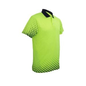 HI-VIS GRADIENT POLO - Lime / Navy