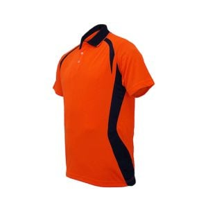 HI-VIS PANEL POLO - Orange_Navy