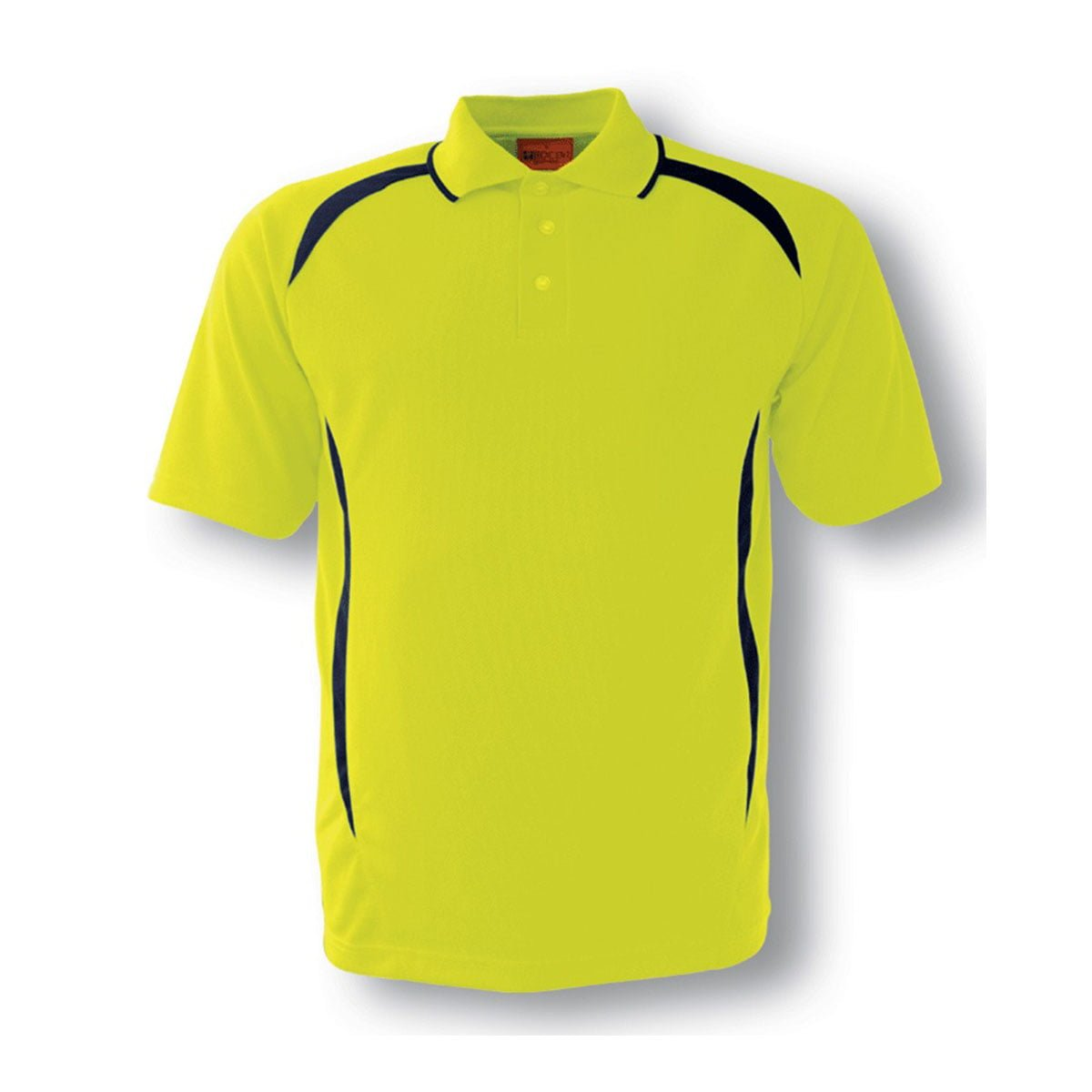 HI-VIS SAFETY STYLE POLO-Lime / Navy