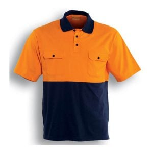 HI-VIS COTTON JERSEY POLO S/S