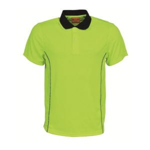 STITCH ESSENTIALS-MENS HI VIS POLO