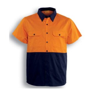 HI-VIS COTTON TWILL SHIRT S/S