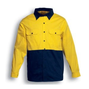HI-VIS COTTON TWILL SHIRT L/S