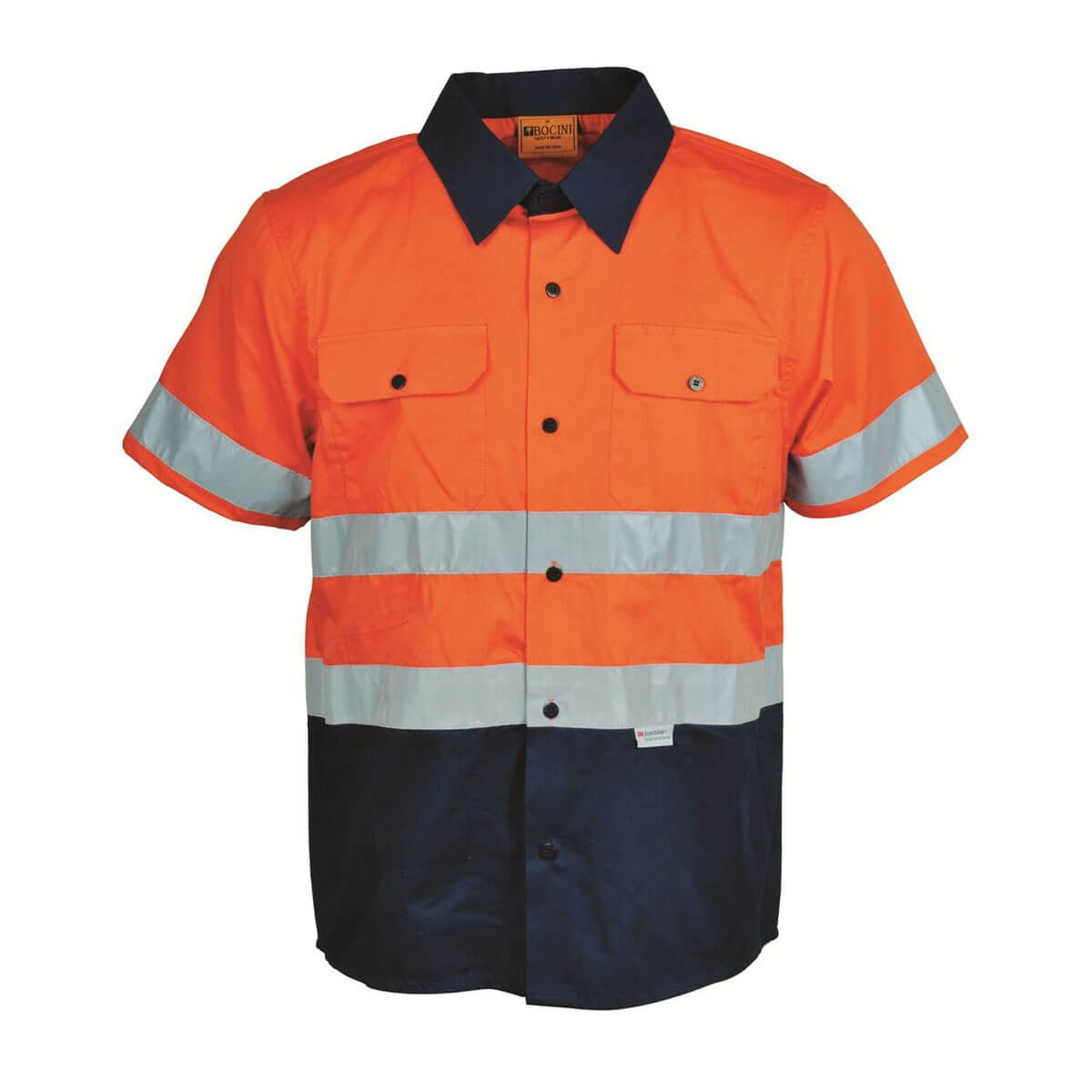 HI-VIS S/S COTTON DRILL SHIRT WITH TAPE