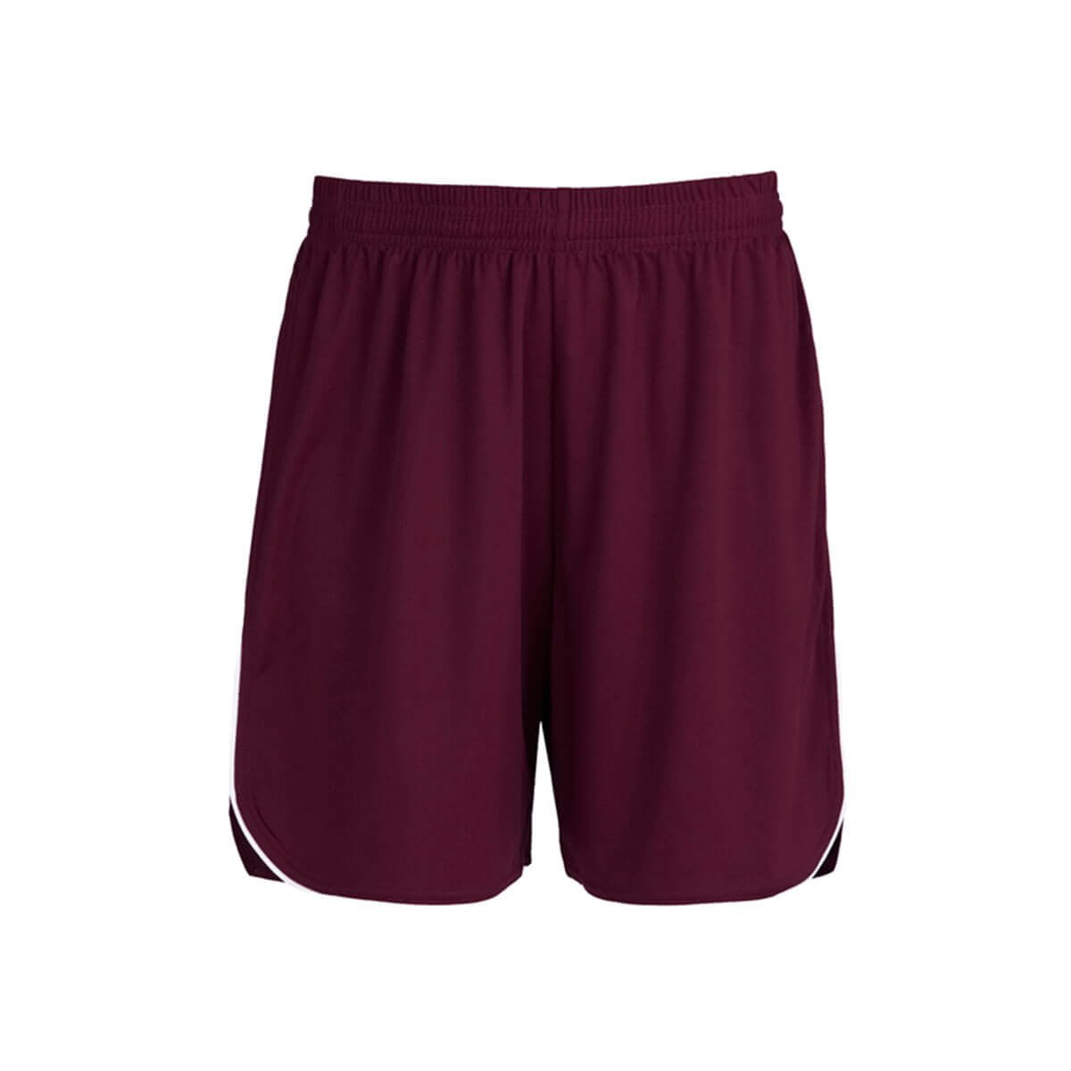 Mens Sonic Shorts-Maroon / White