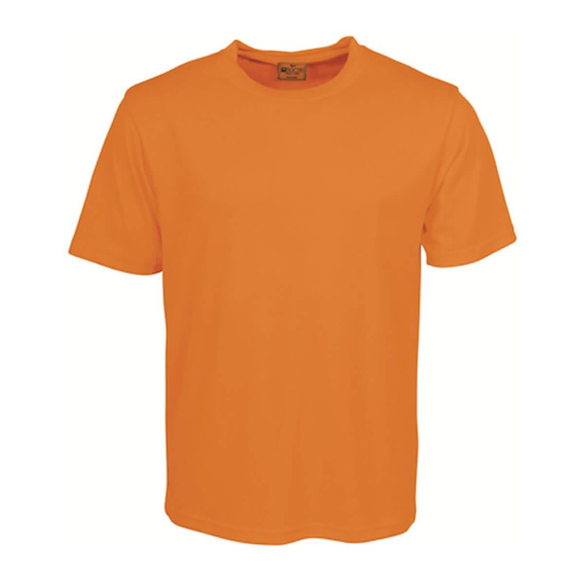 HI-VIS KIDS ROUND NECK TEE SHIRT-Orange