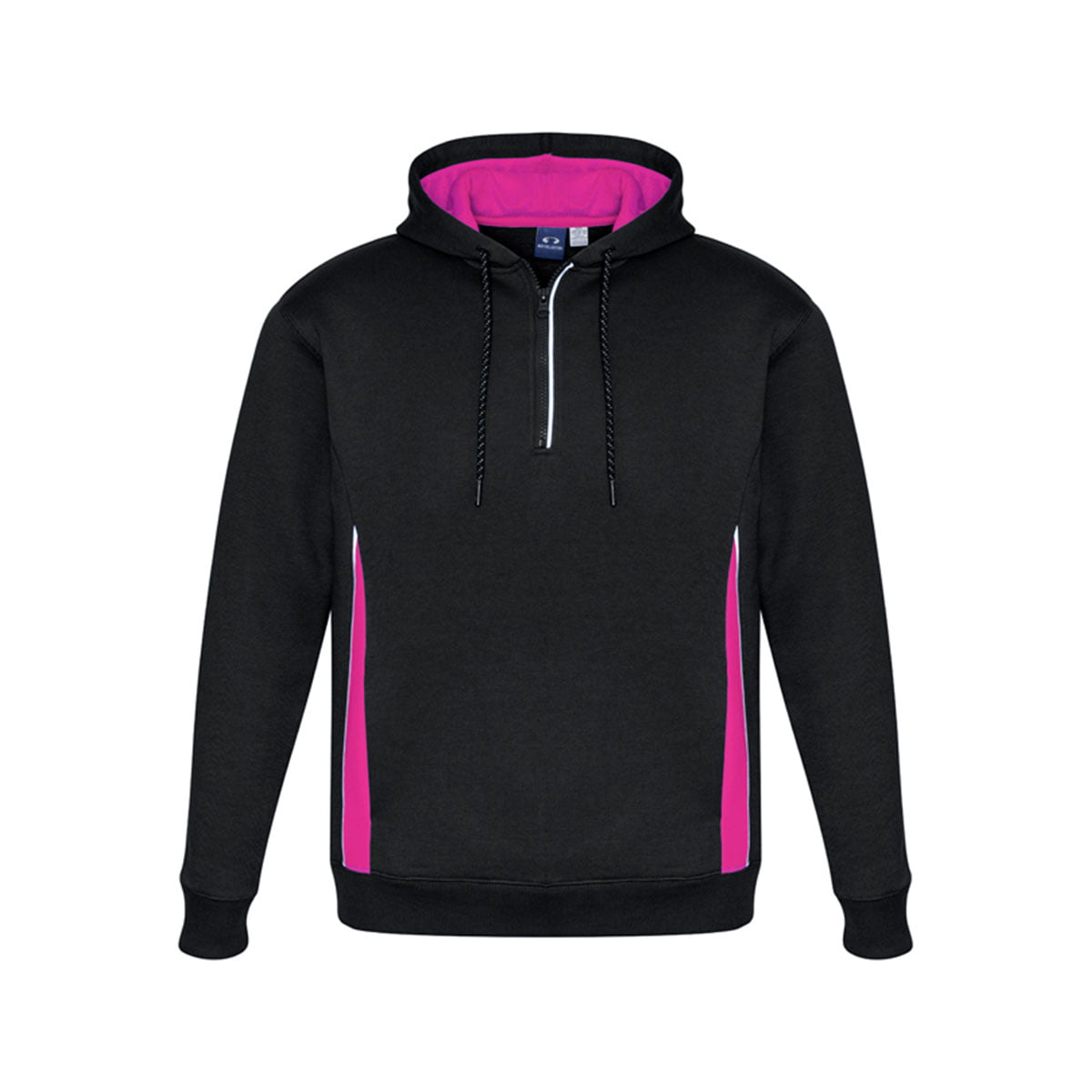 Adults Renegade Hoodie-Black / Magenta / Silver