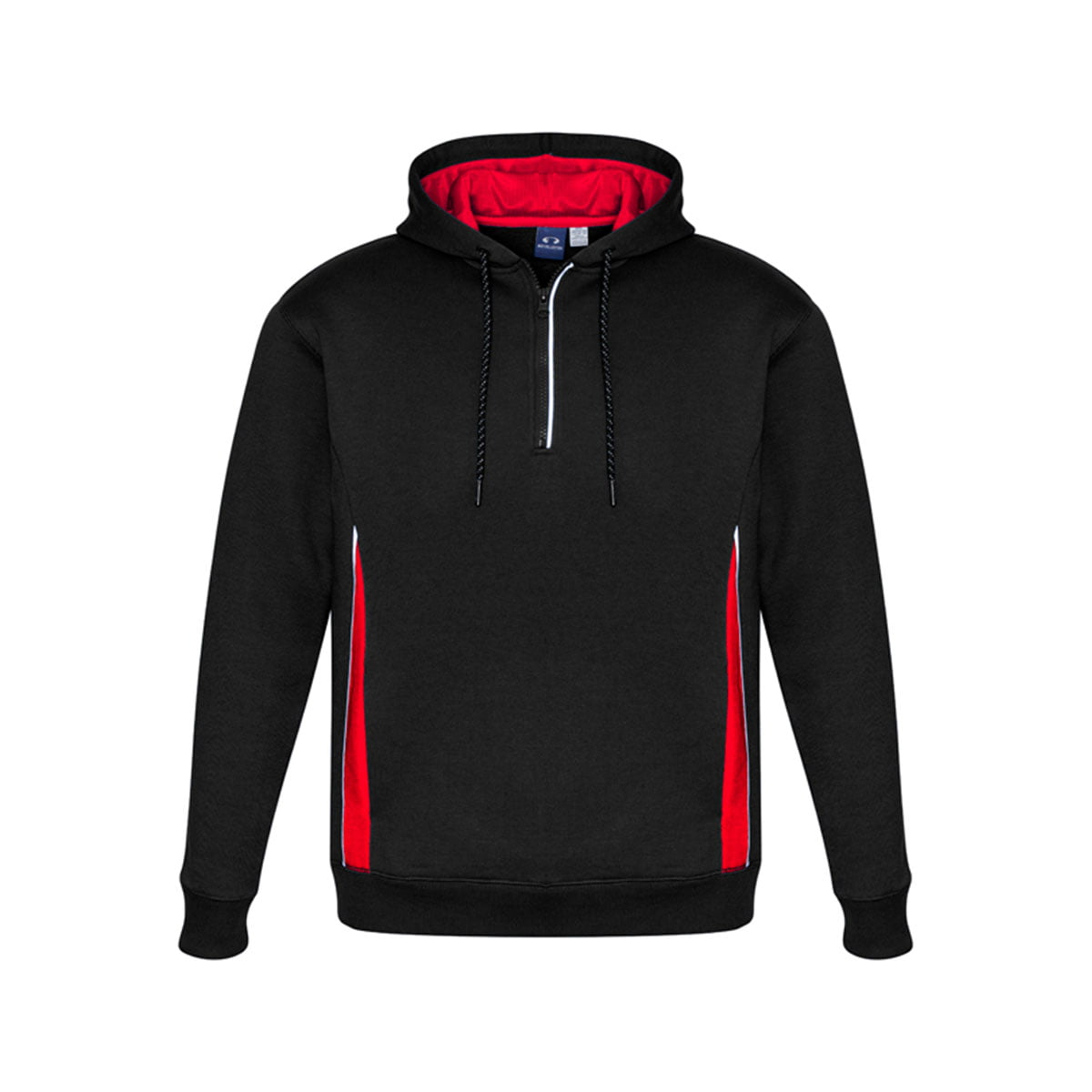 Adults Renegade Hoodie-Black / Red / Silver