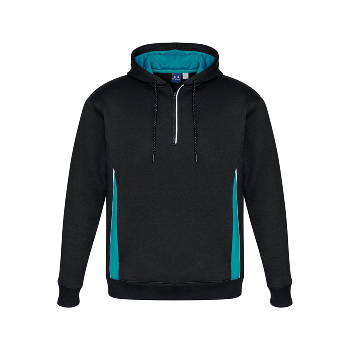 Adults Renegade Hoodie-Black / Teal / Silver