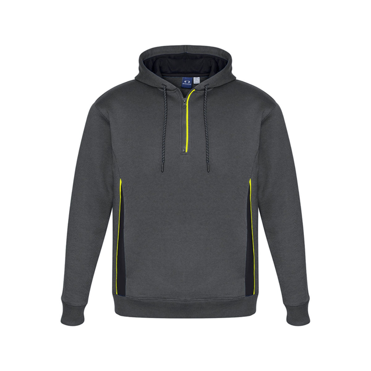 Adults Renegade Hoodie-Grey / Black / Fluoro Yellow