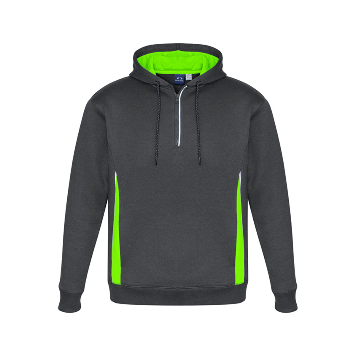 Adults Renegade Hoodie-Grey / Fluoro Lime / Silver