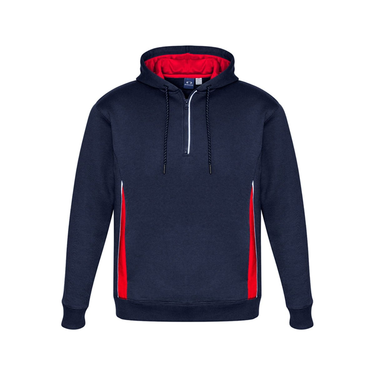 Adults Renegade Hoodie-Navy / Red / Silver