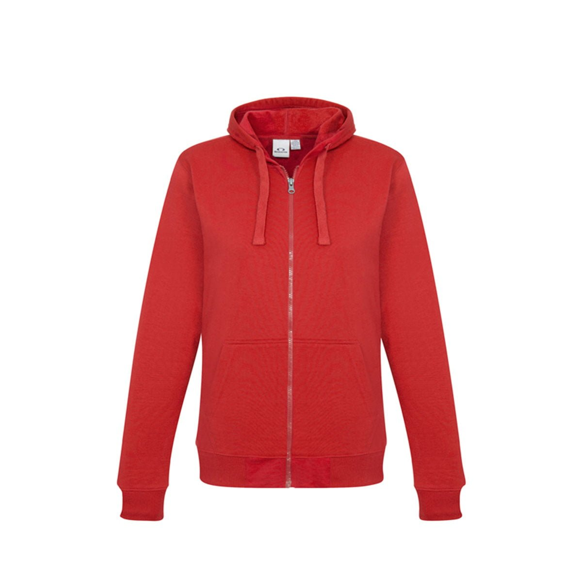 Ladies Crew Zip Hoodie-Red
