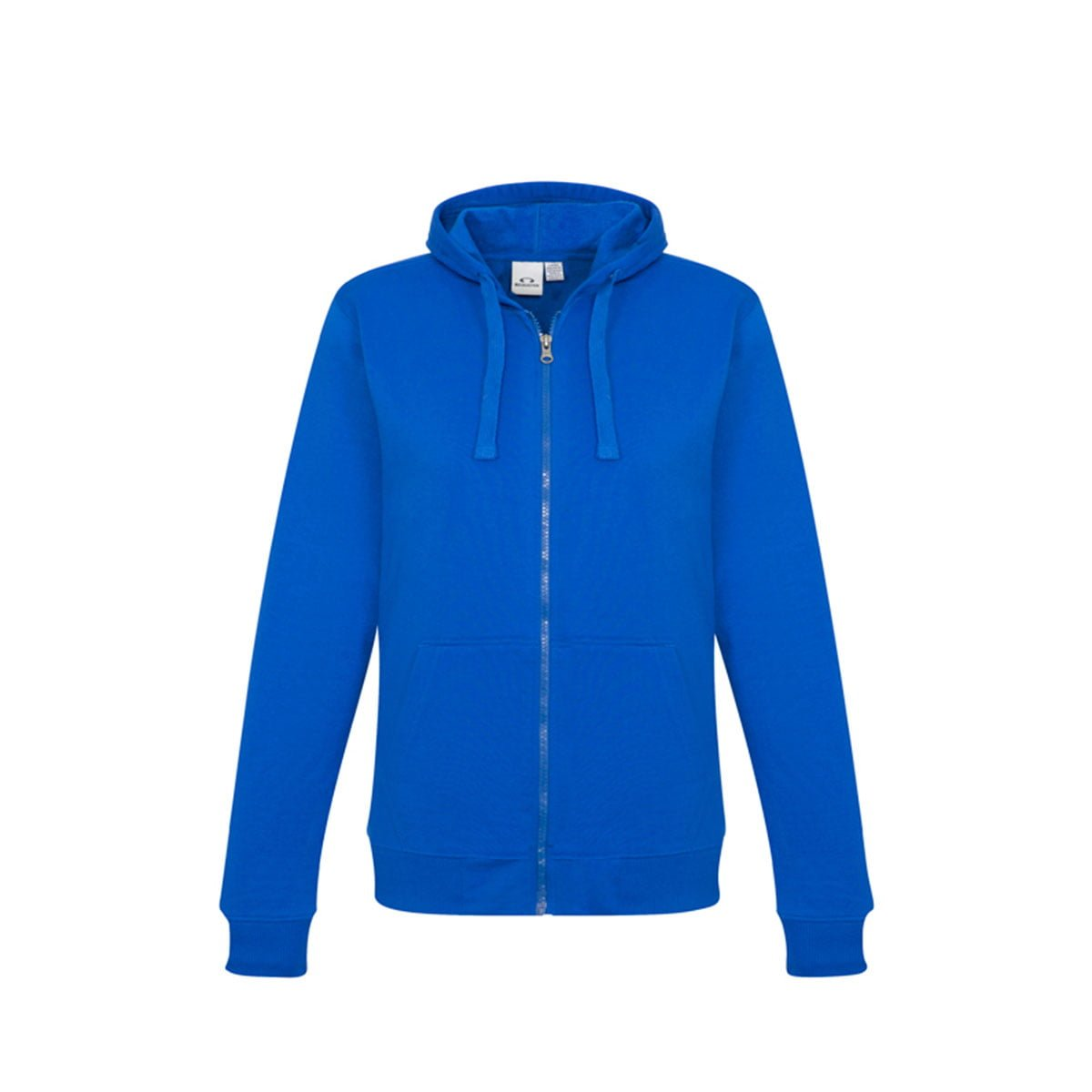 Ladies Crew Zip Hoodie-Royal
