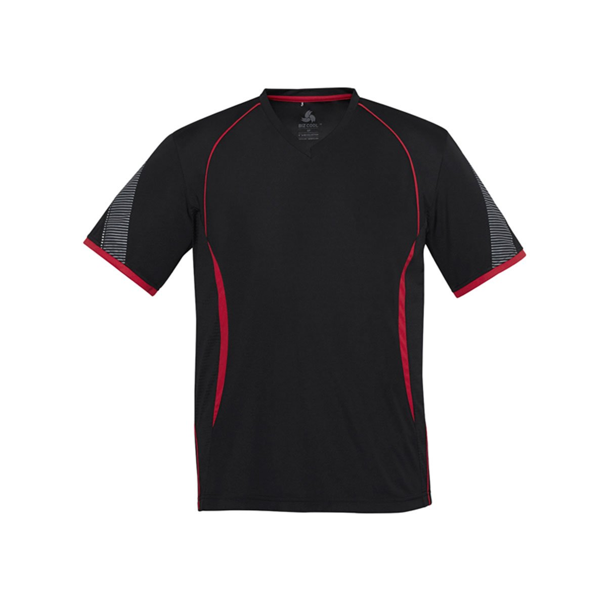Mens Razor Tee-Black / Red