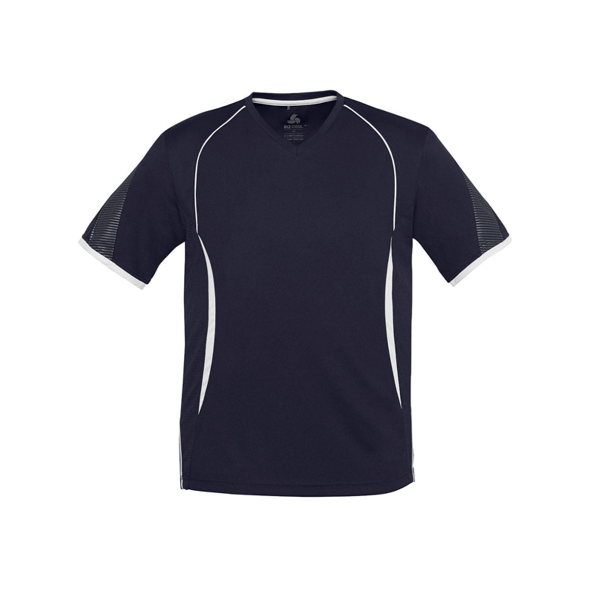 Mens Razor Tee-Navy / White