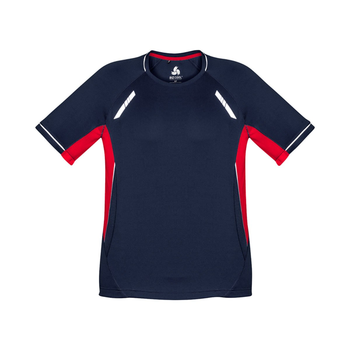 Mens Renegade Tee-Navy / Red / Silver
