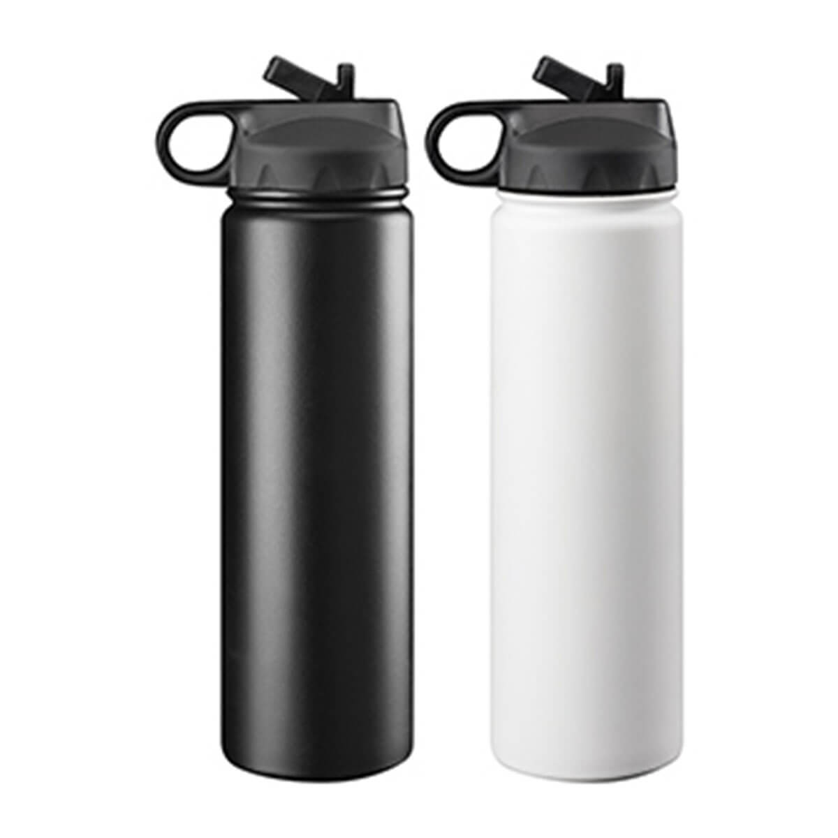 Trekk Double Walled Stainless Drink Bottle – White-White