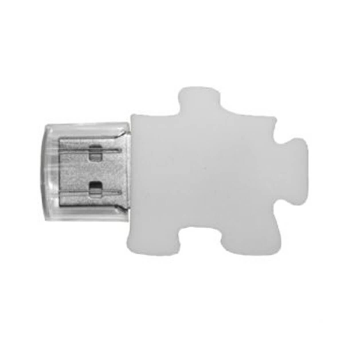 Puzzle PVC Flash Drive-You can change up to 2 of the base PVC colours and print your logo in 1-2 colours in 1 position.