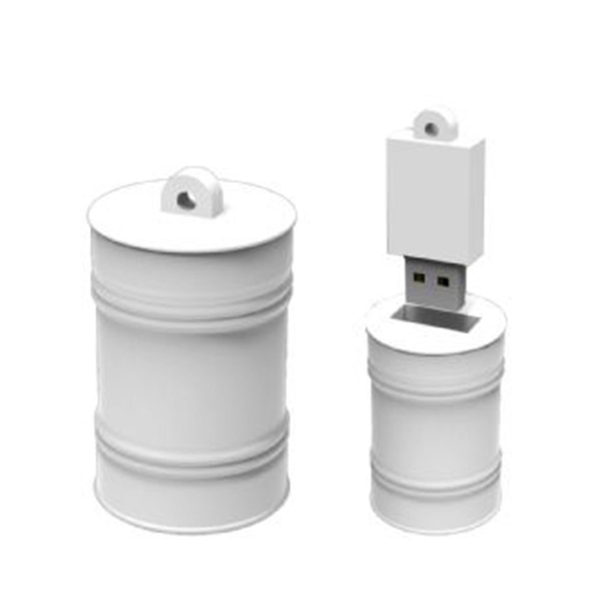 Oil Drum Large PVC Flash Drive-You can change up to 2 of the base PVC colours and print your logo in 1-2 colours in 1 position.