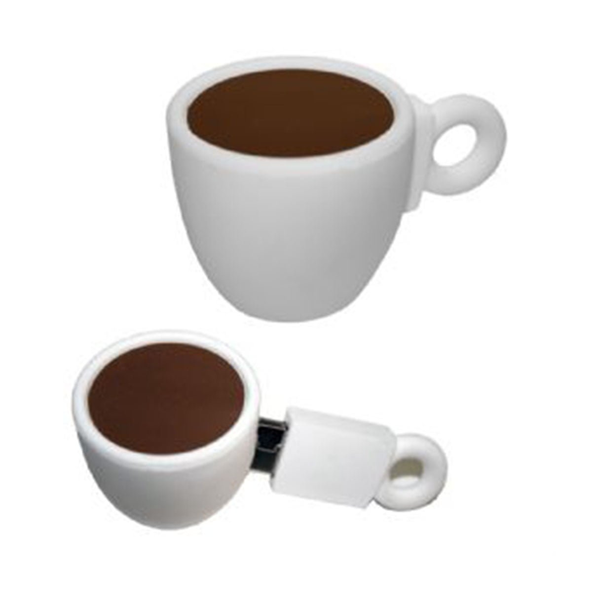 Coffee Cup PVC Flash Drive-You can change up to 2 of the base PVC colours and print your logo in 1-2 colours in 1 position.