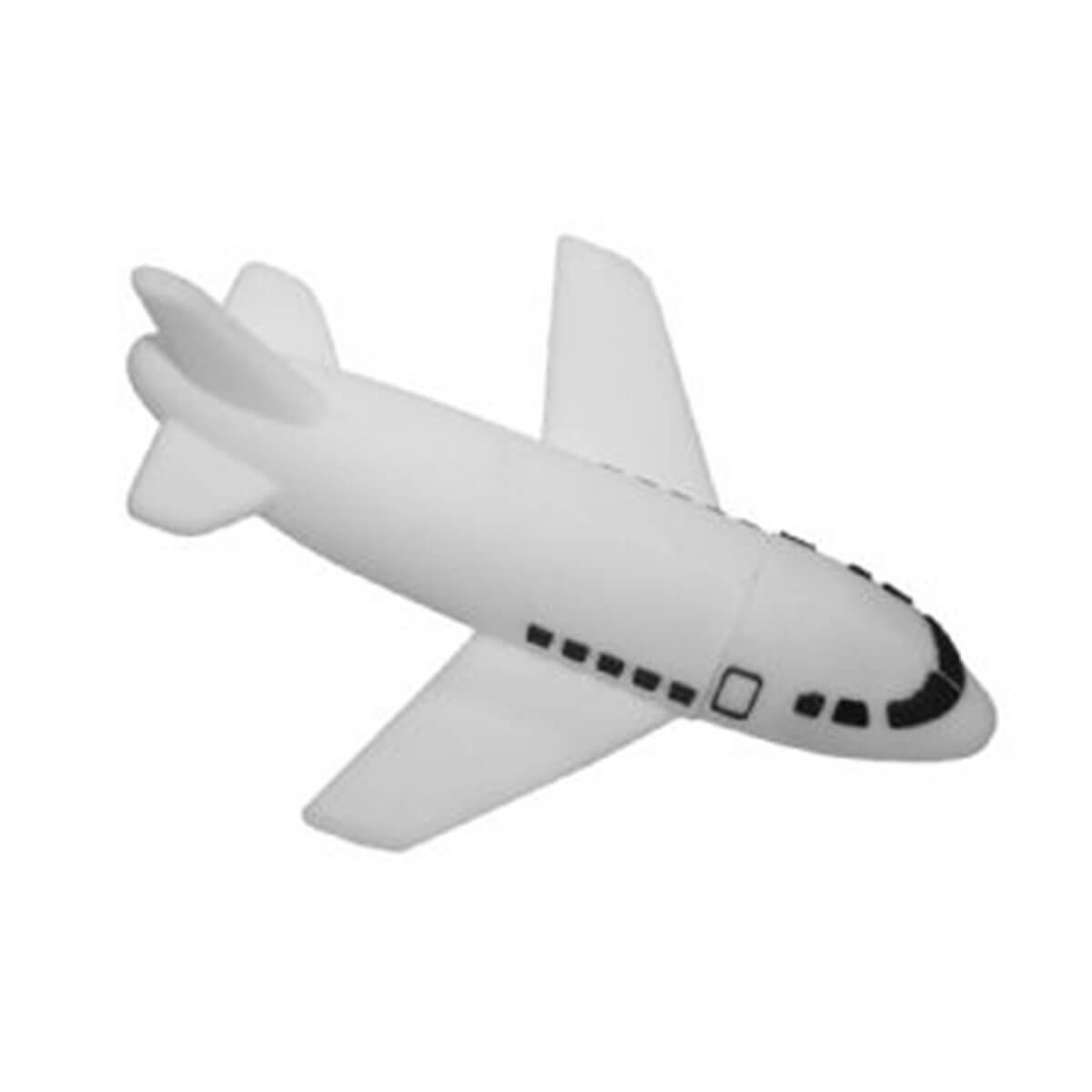 Plane PVC Flash Drive-You can change up to 2 of the base PVC colours and print your logo in 1-2 colours in 1 position.