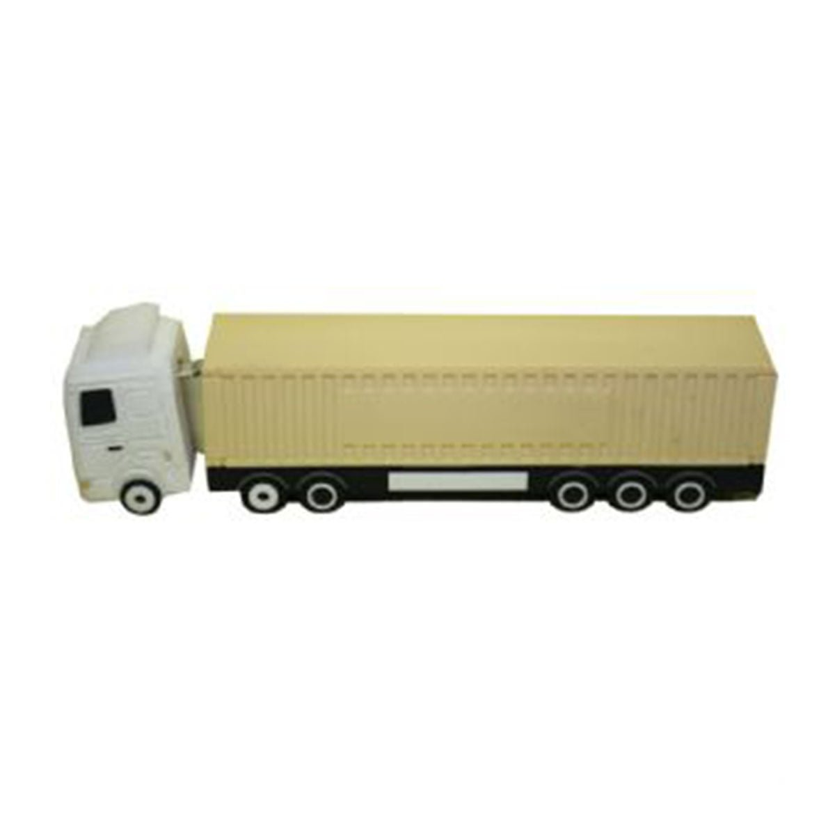 Container Truck PVC Flash Drive-You can change up to 2 of the base PVC colours and print your logo in 1-2 colours in 1 position.