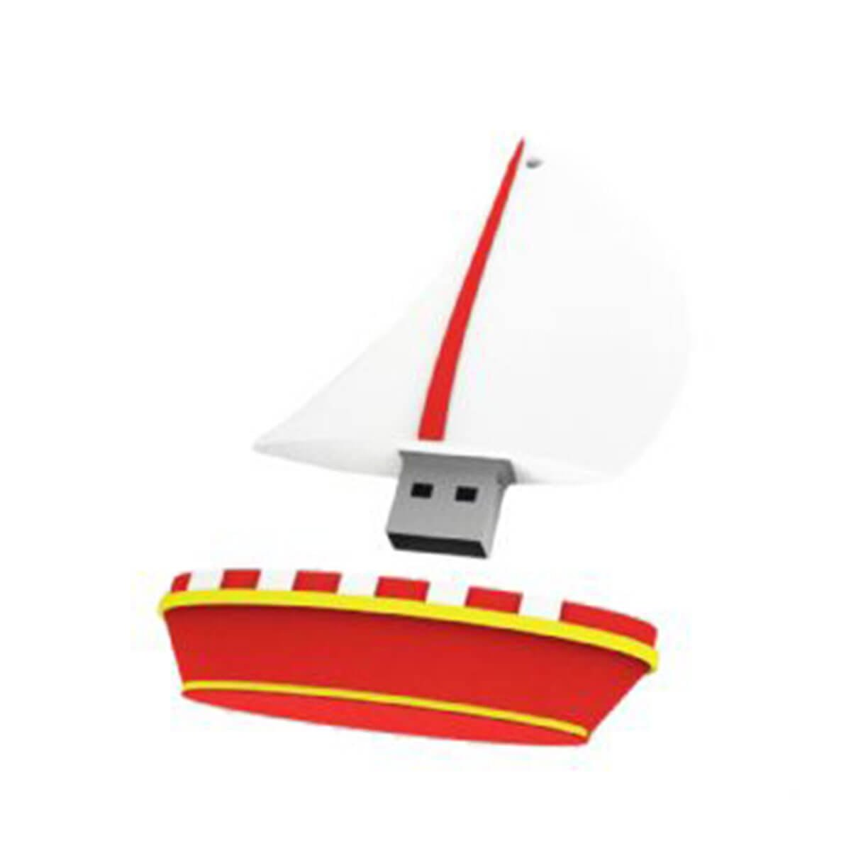 Yacht PVC Flash Drive-You can change up to 2 of the base PVC colours and print your logo in 1-2 colours in 1 position.