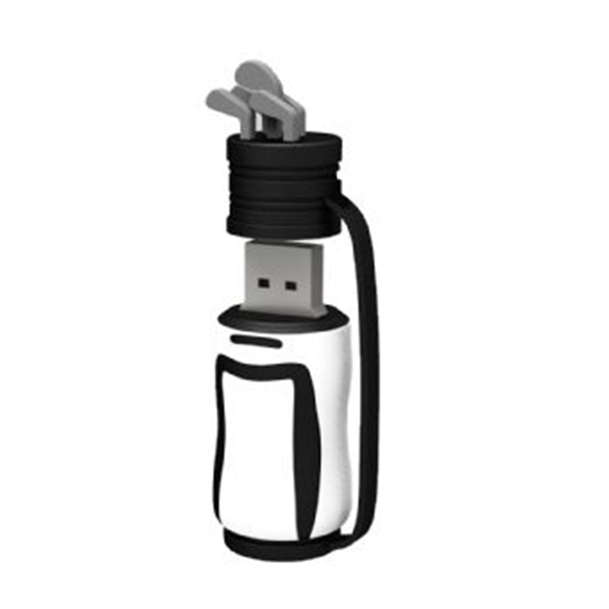 Golf Club PVC Flash Drive-You can change up to 2 of the base PVC colours and print your logo in 1-2 colours in 1 position.