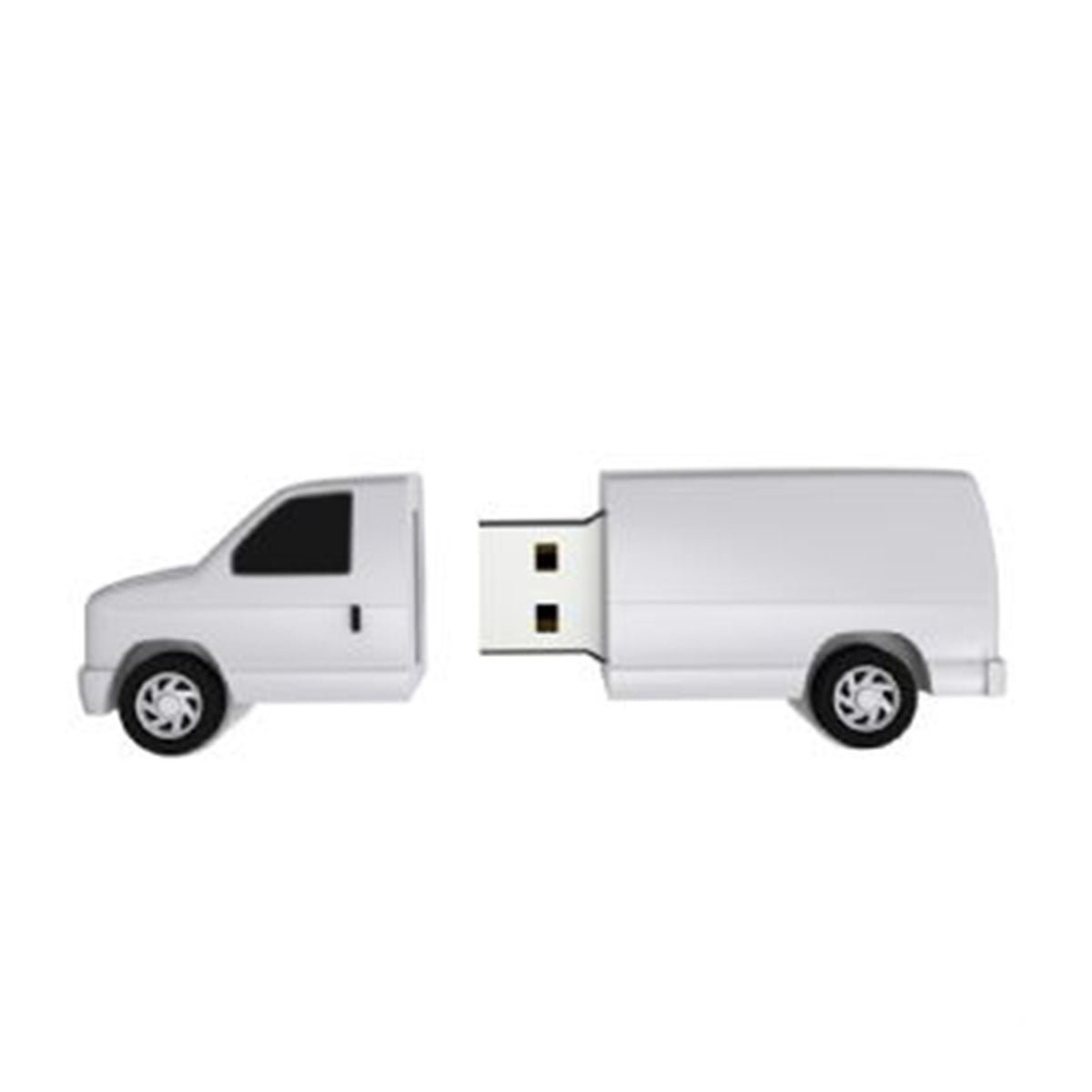 Van PVC Flash Drive-You can change up to 2 of the base PVC colours and print your logo in 1-2 colours in 1 position.