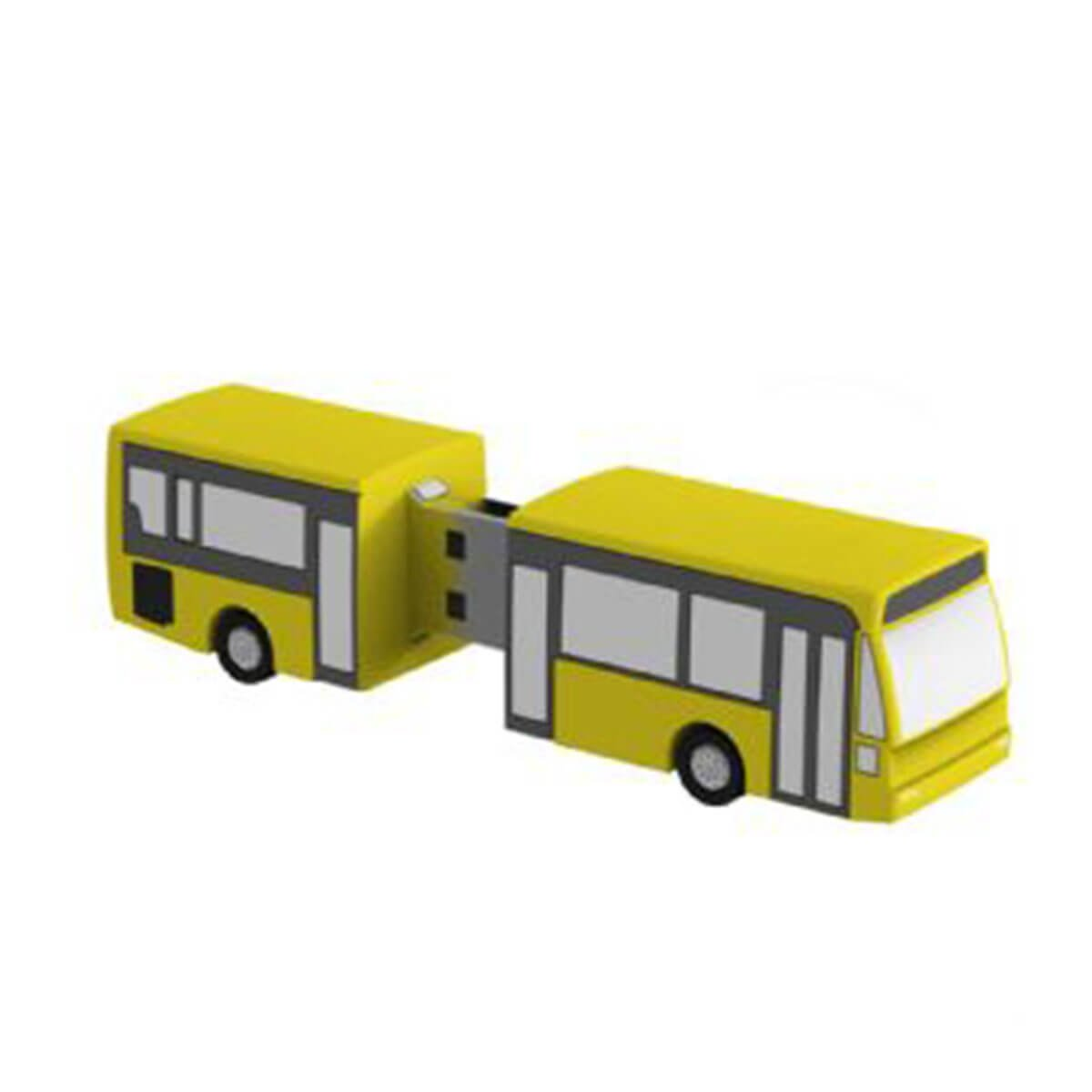 Bus PVC Flash Drive-You can change up to 2 of the base PVC colours and print your logo in 1-2 colours in 1 position.