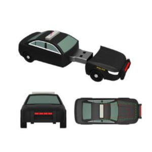 Police Car PVC Flash Drive