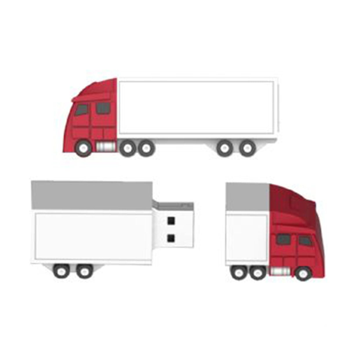 Freight Truck USB Flash Drive-You can change up to 2 of the base PVC colours and print your logo in 1-2 colours in 1 position.