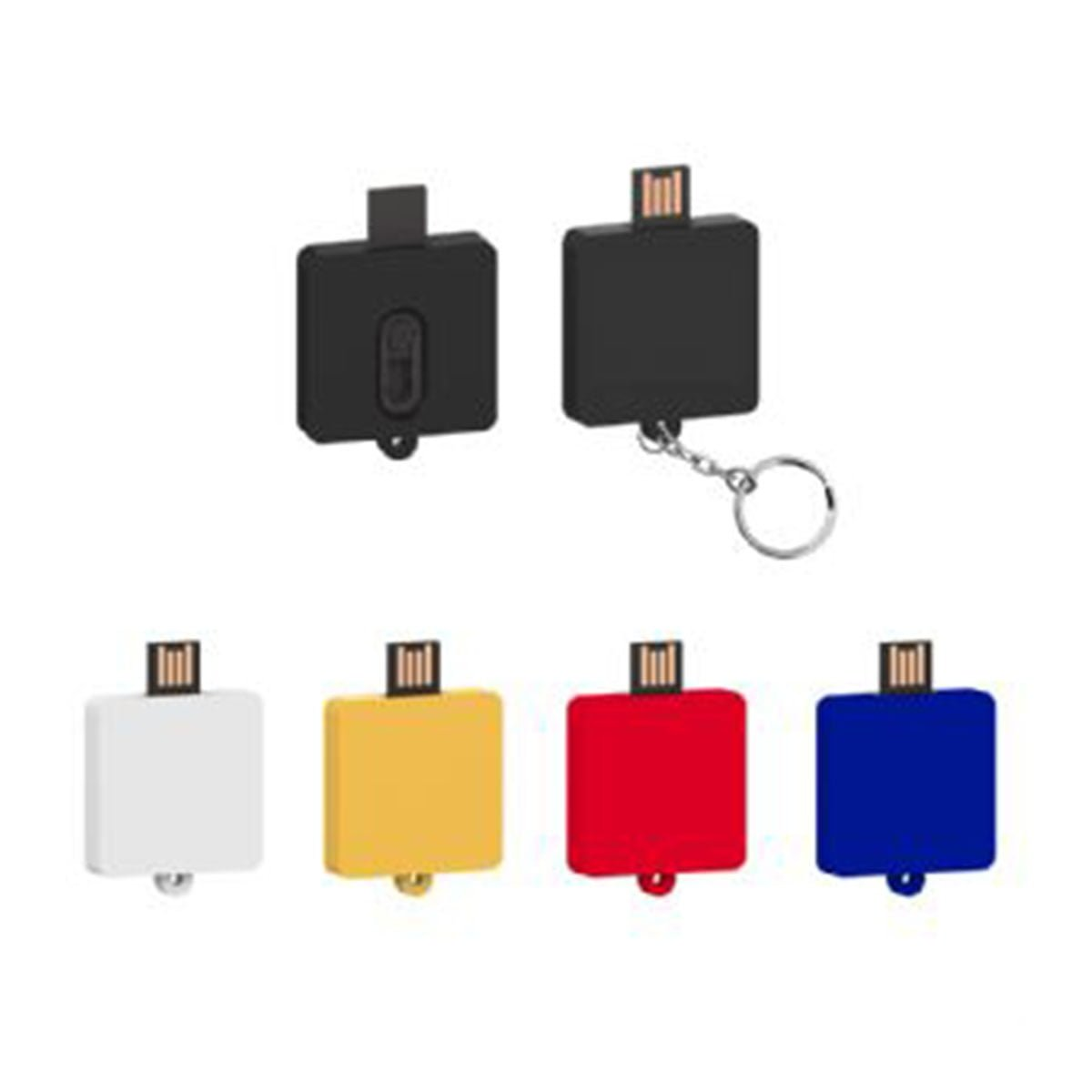Square Slider USB Flash Drive-You can change up to 2 of the base PVC colours and print your logo in 1-2 colours in 1 position.