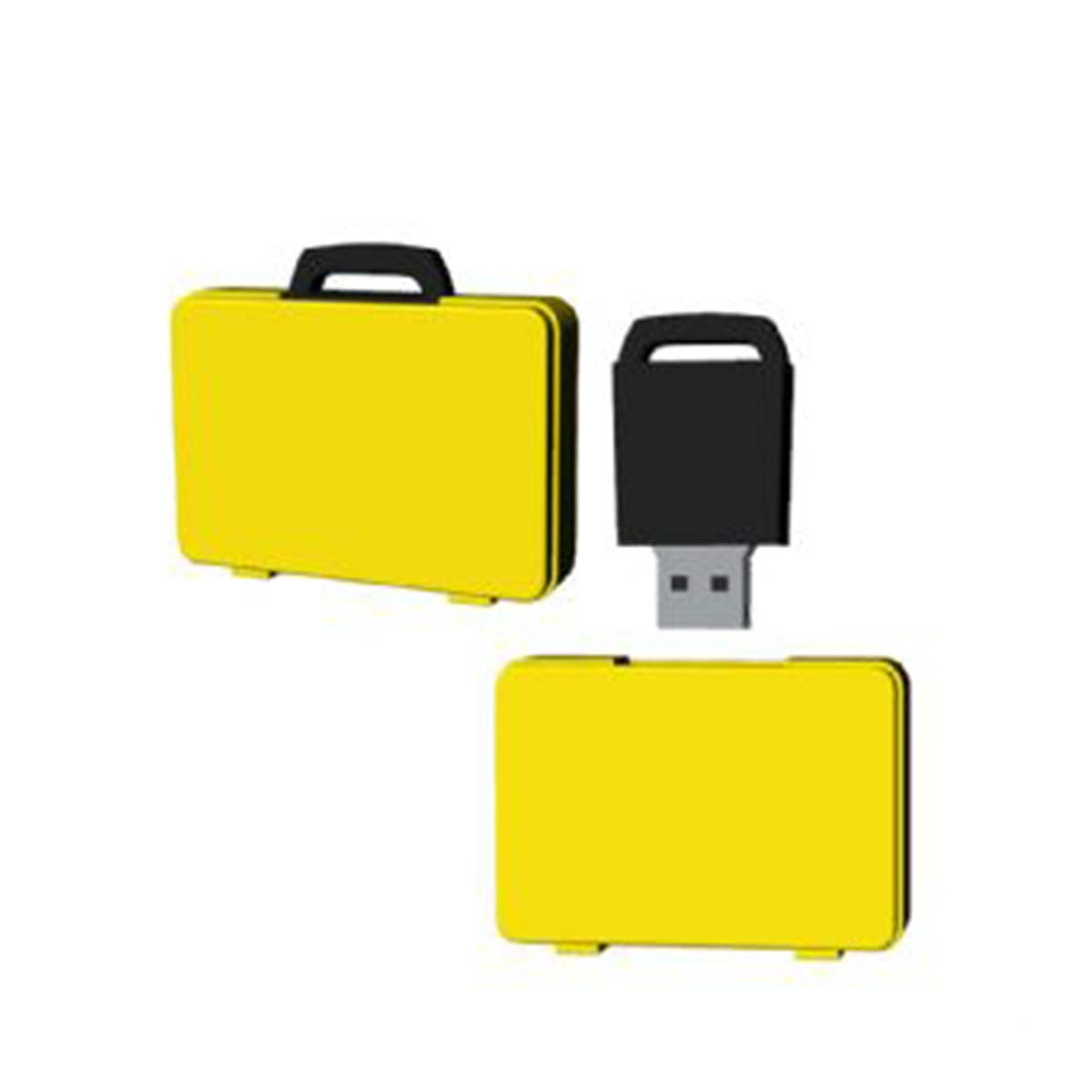 Suitcase USB Flash Drive-You can change up to 2 of the base PVC colours and print your logo in 1-2 colours in 1 position.