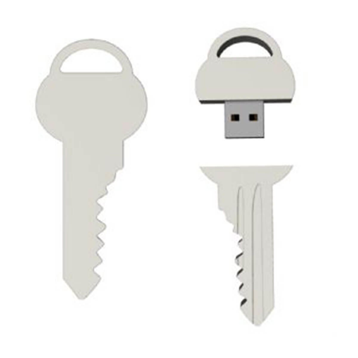 Key USB Flash Drive-You can change up to 2 of the base PVC colours and print your logo in 1-2 colours in 1 position.