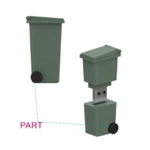 Wheelie Bin USB Flash Drive