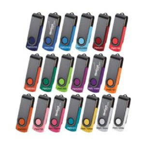 Rotate Black Clip Flash Drive