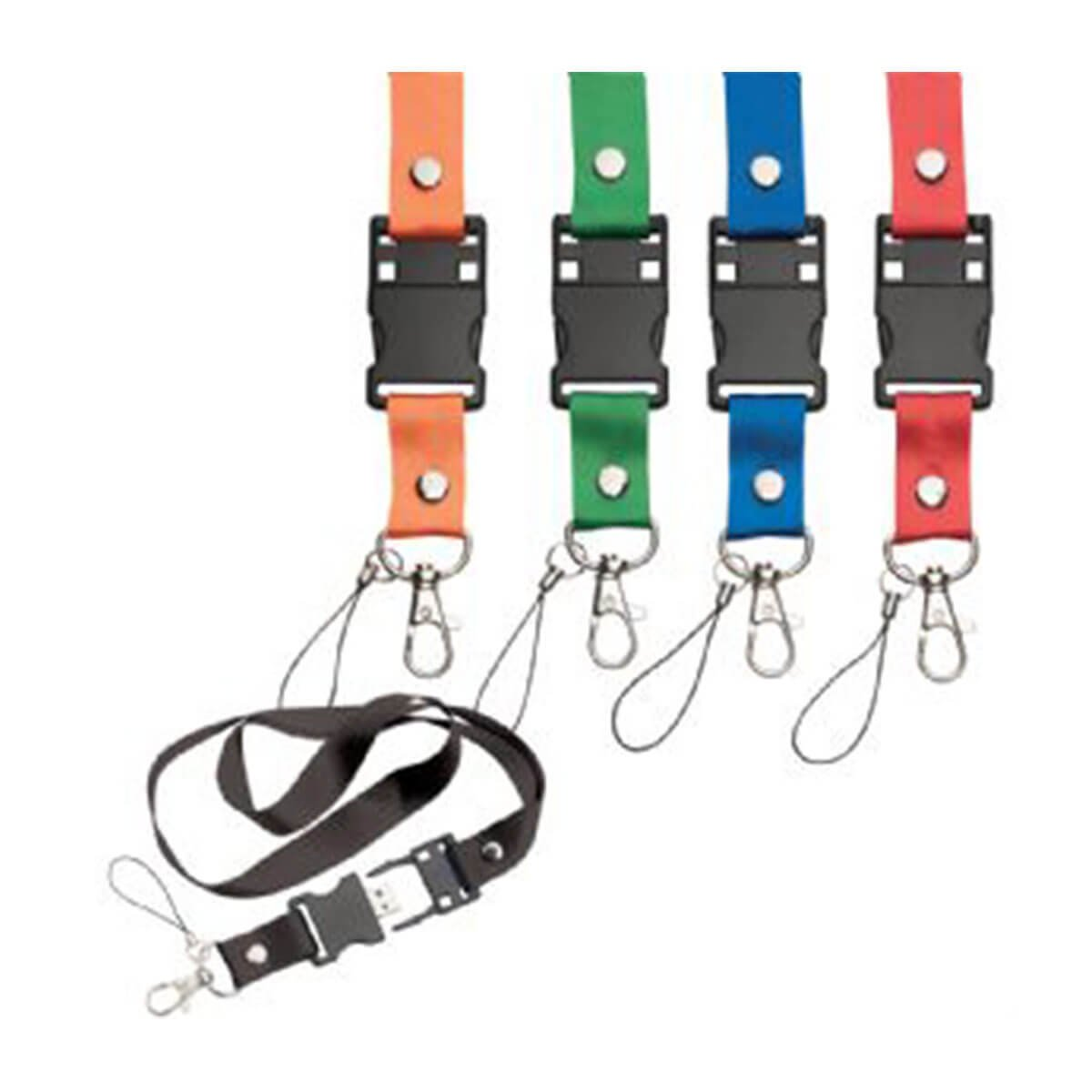Lanyard – USB Flash Drive-Available in 5 Colours.
