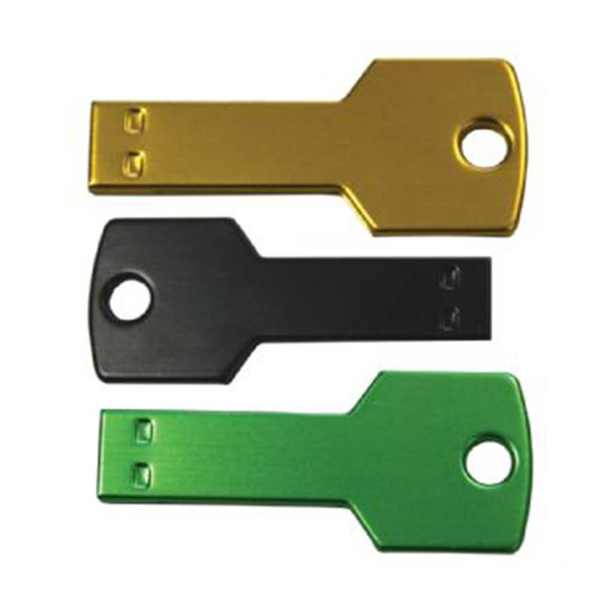 Coloured Key USB Flash Drive-Black, Blue, Red, Yellow, White