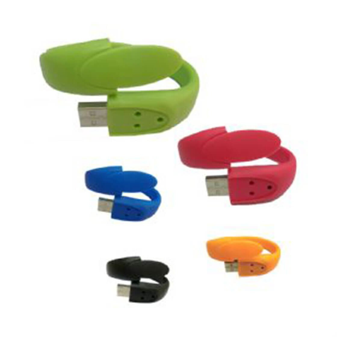 Wristband USB Flash Drive-Black, Blue, Red, Green, Orange